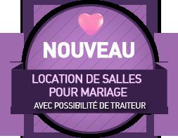 Location de salles pour mariages avec possibilité de traiteur